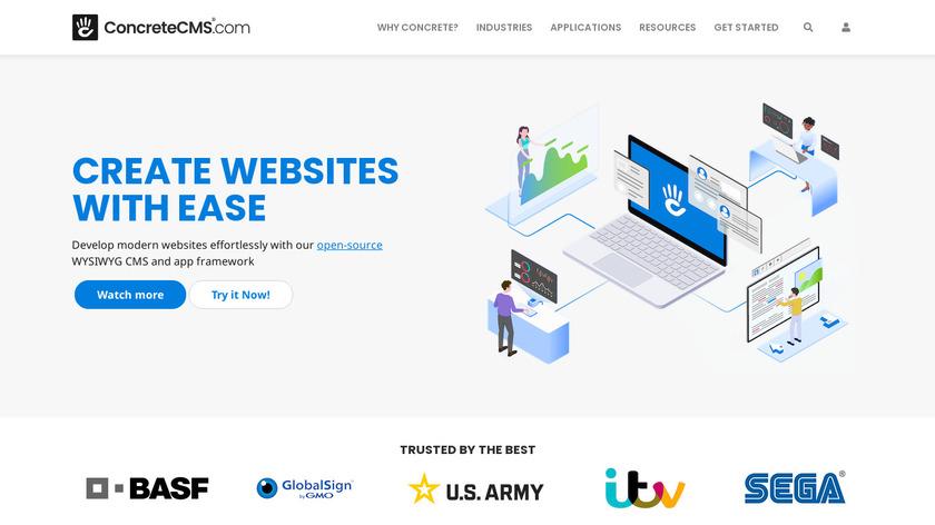 concrete5 Landing Page
