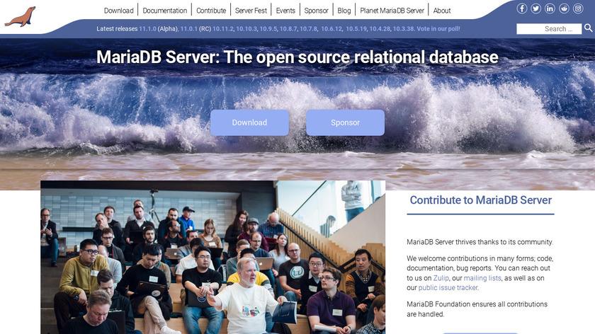 MariaDB Landing Page