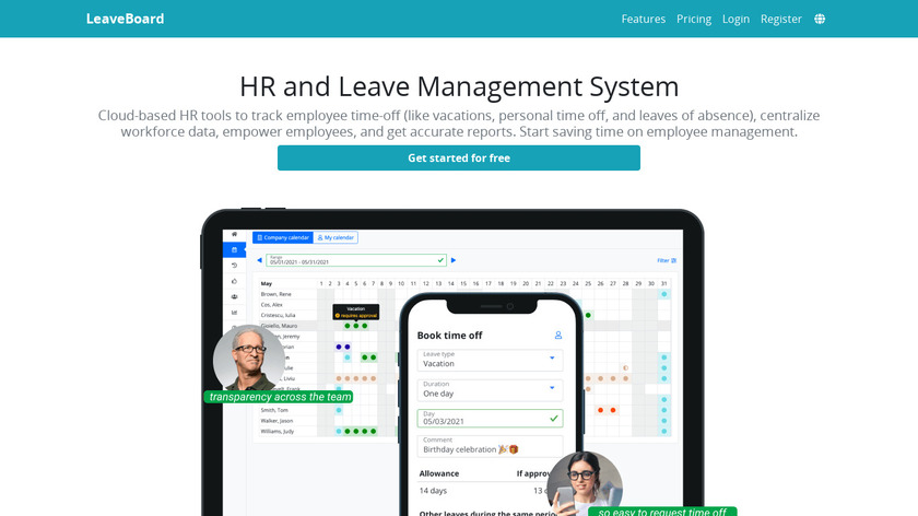 LeaveBoard Landing Page