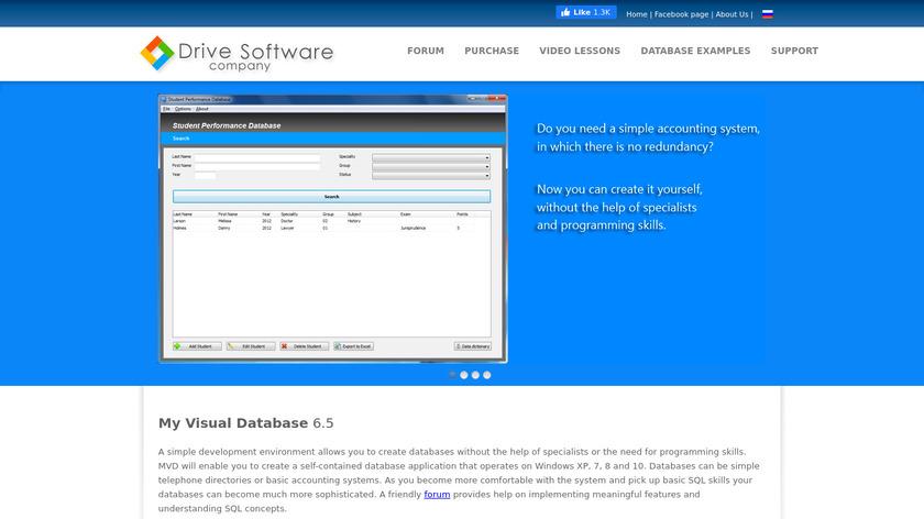 My Visual Database Landing Page