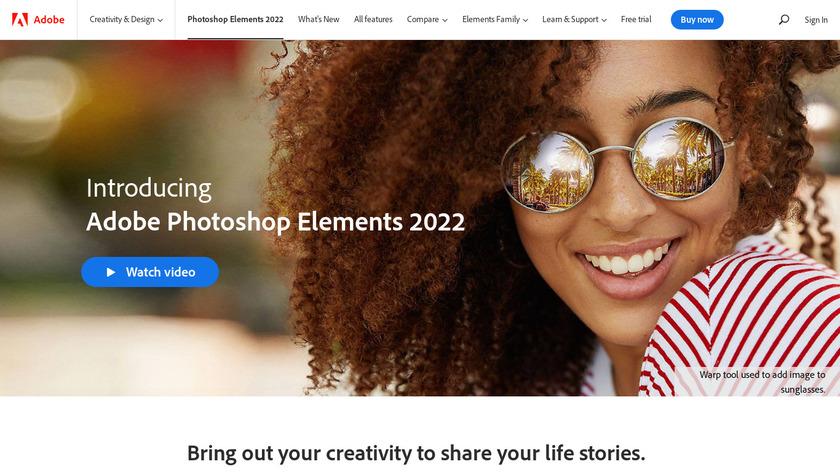 Adobe Photoshop Elements Landing Page