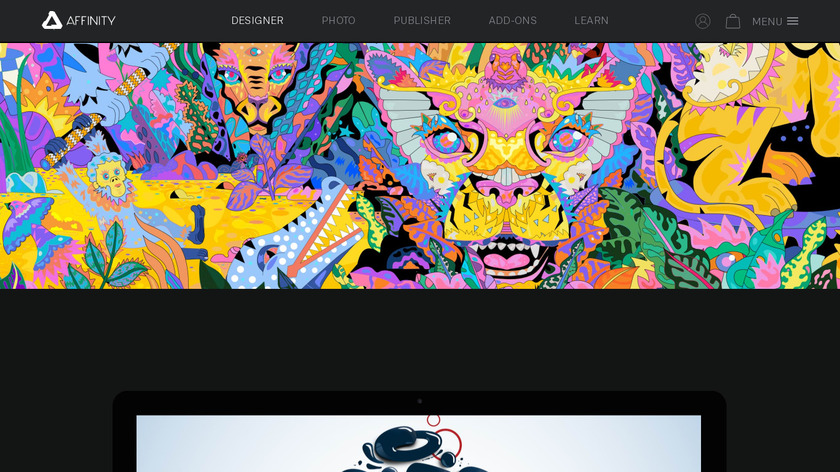 Affinity Designer Landing Page