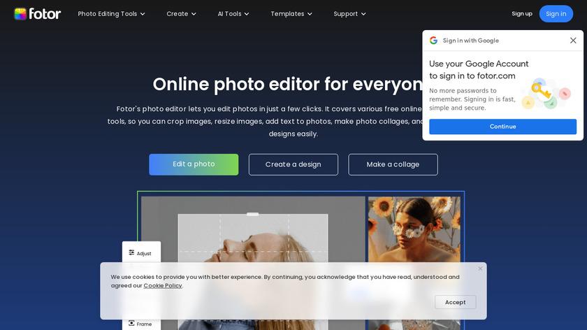 Fotor Landing Page