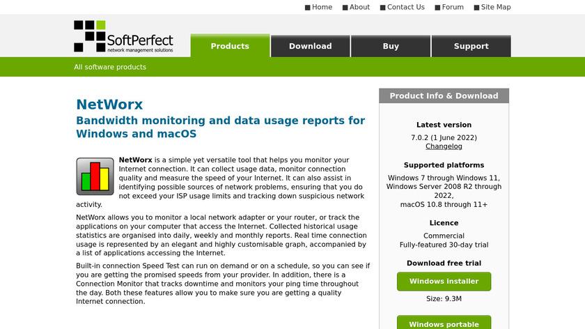 NetWorx Landing Page