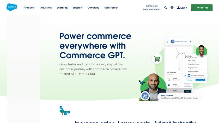 demandware Landing Page