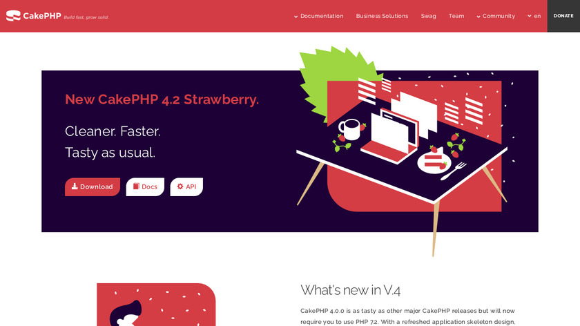 CakePHP Landing Page