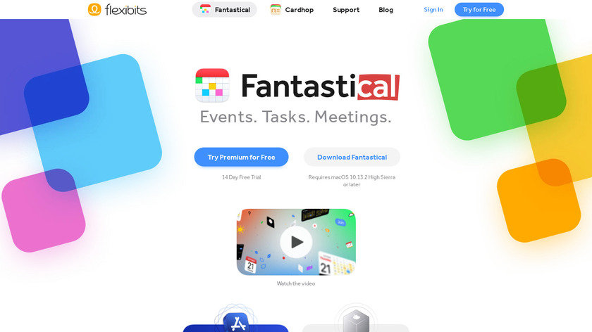 Fantastical 2 Landing Page