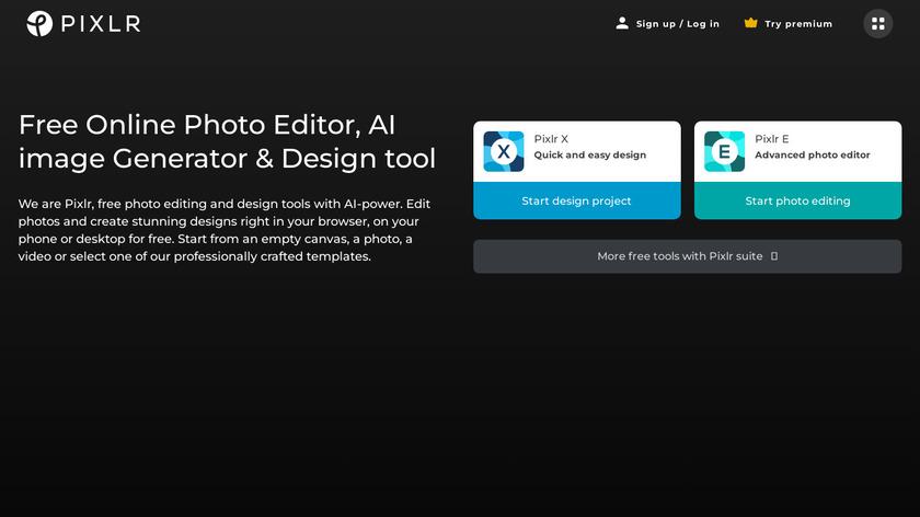Pixlr Landing Page
