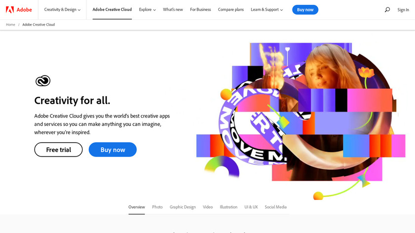 Adobe Creative Cloud Landing Page
