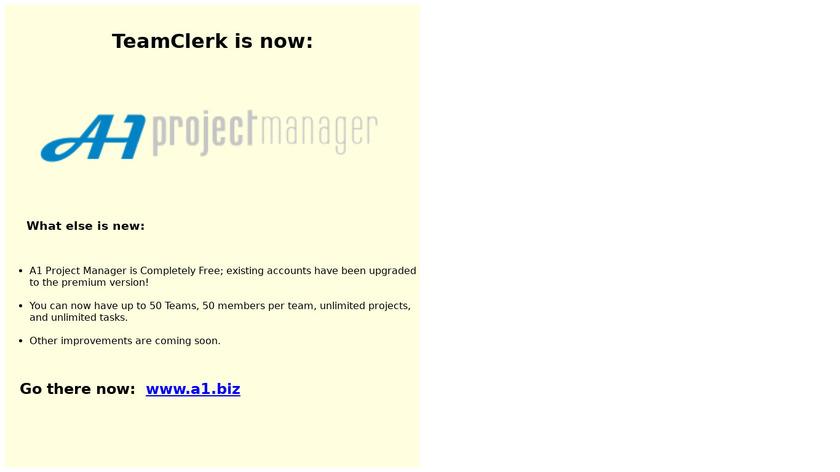 TeamClerk Landing Page