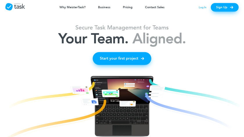 Meistertask Landing Page