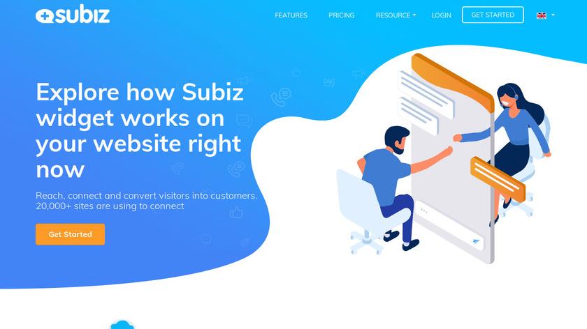 Subiz Landing Page
