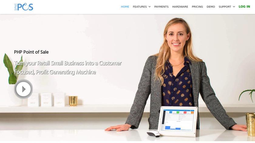 PHP Point Of Sale Landing Page