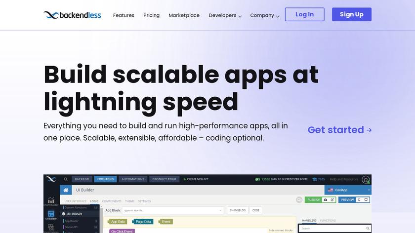 Backendless Landing Page