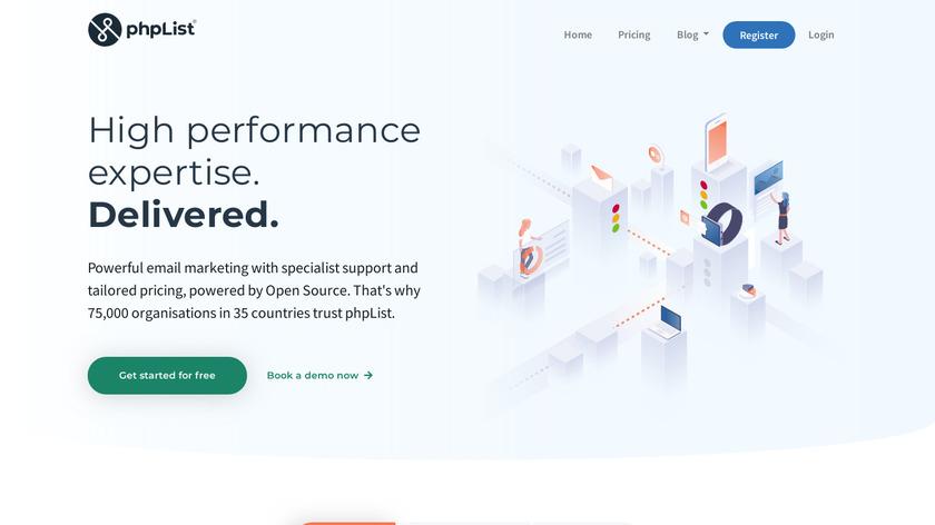 phpList Landing Page