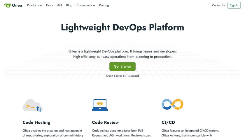 Gitea Landing Page