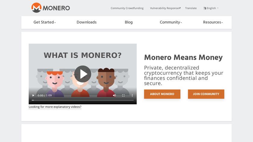 Monero Landing Page