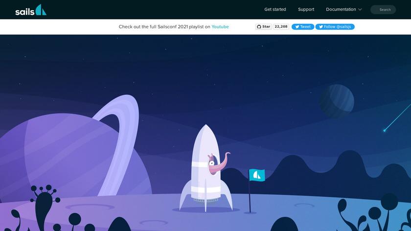 Sails.js Landing Page