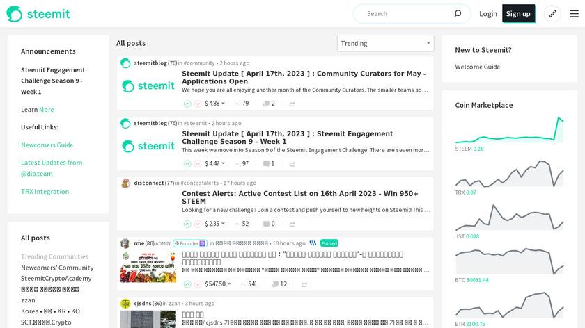 Steemit Landing Page