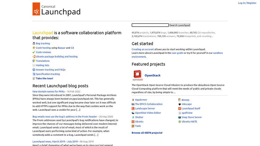 Launchpad Landing Page