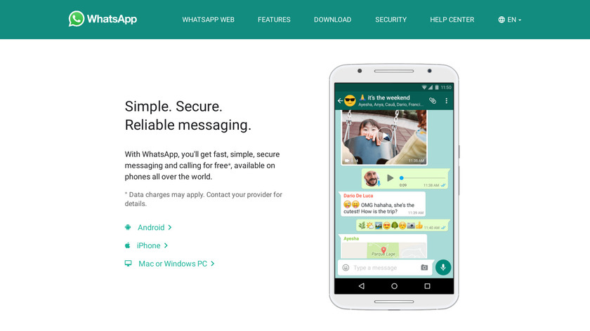 WhatsApp Landing Page