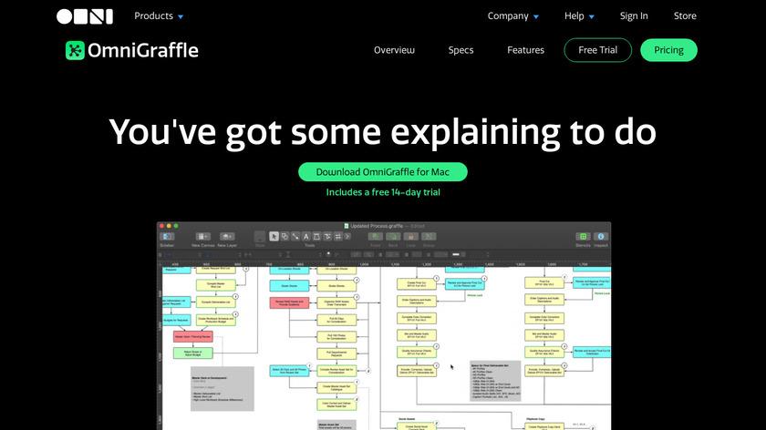 OmniGraffle Landing Page