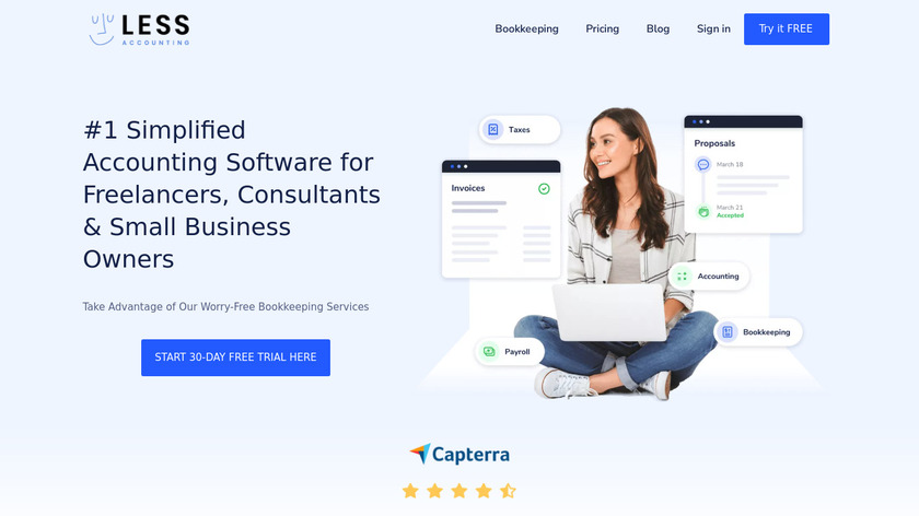 LessAccounting Landing Page