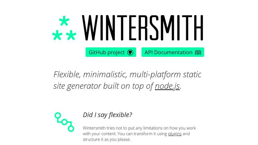 Wintersmith Landing Page