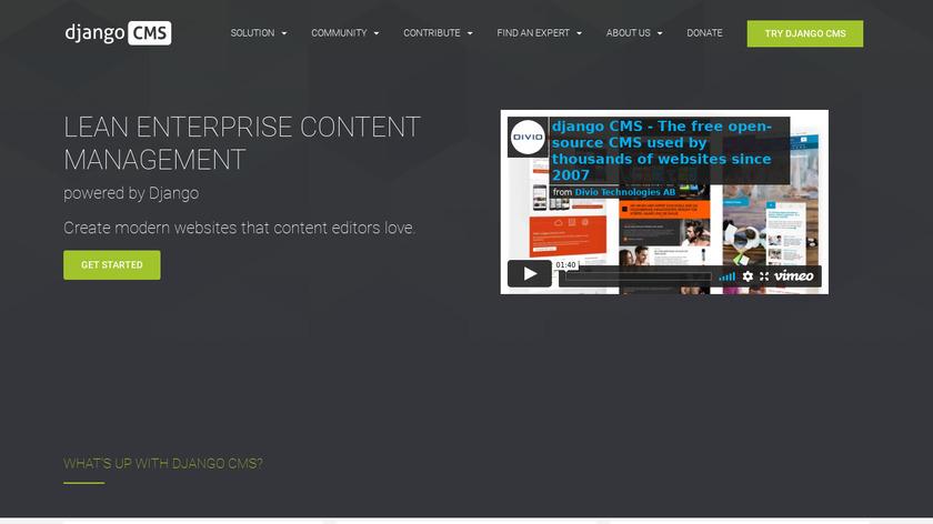 django CMS Landing Page