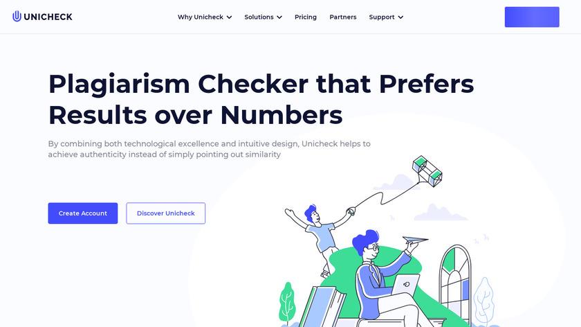 Unicheck Landing Page