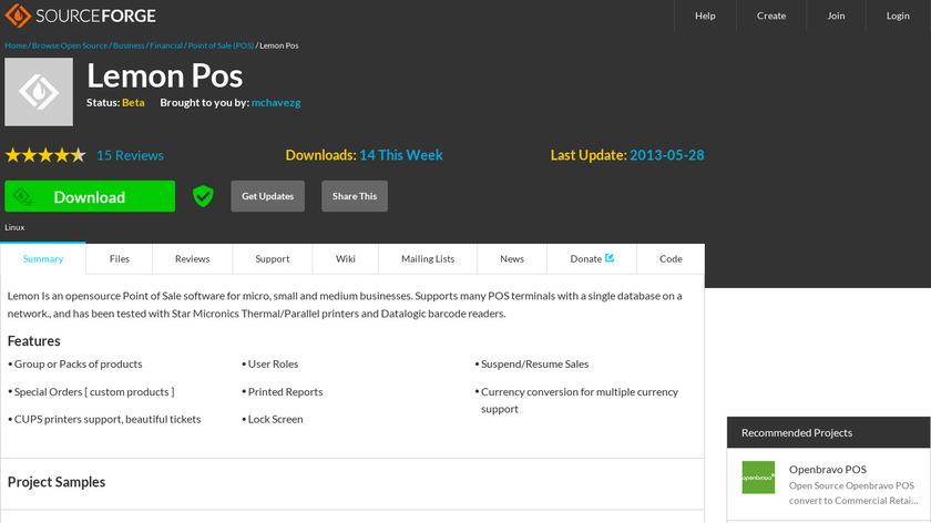 LemonPOS Landing Page