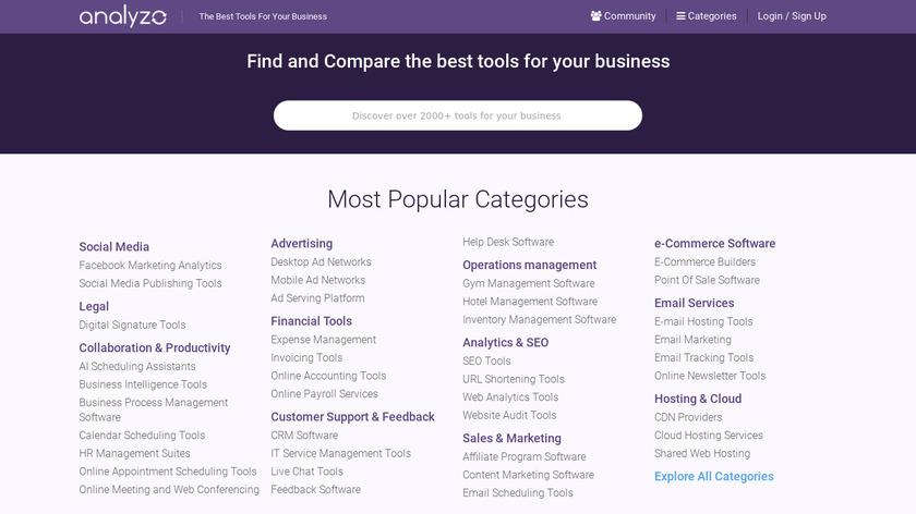 Analyzo Landing Page