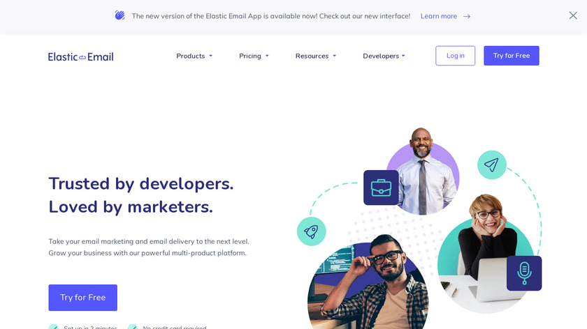 Elastic Email Landing Page