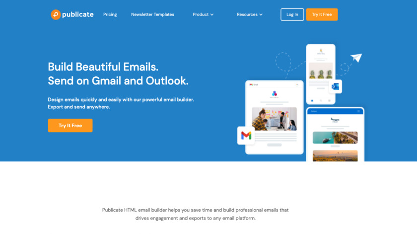 Publicate Landing Page