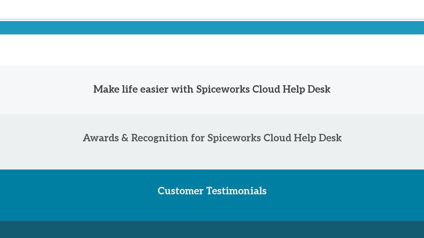 Spiceworks Help Desk Landing Page