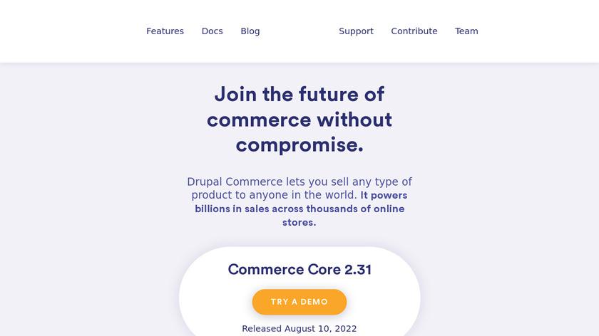 Drupal Commerce Landing Page