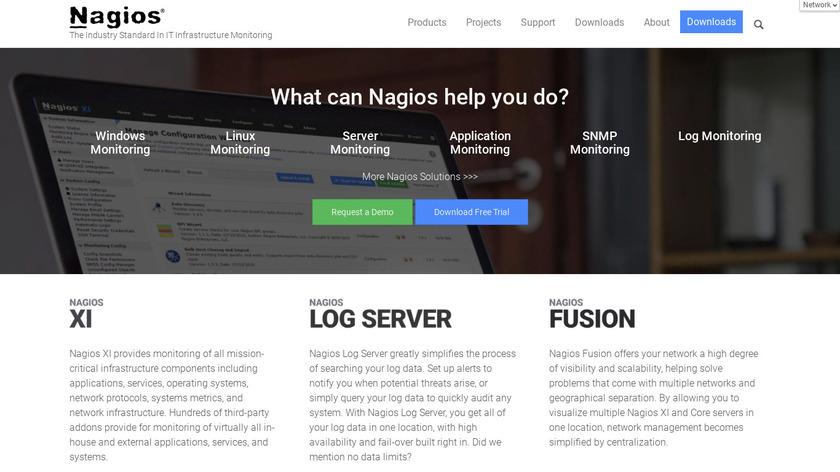 Nagios Landing Page