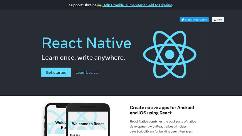 React Native Landing Page