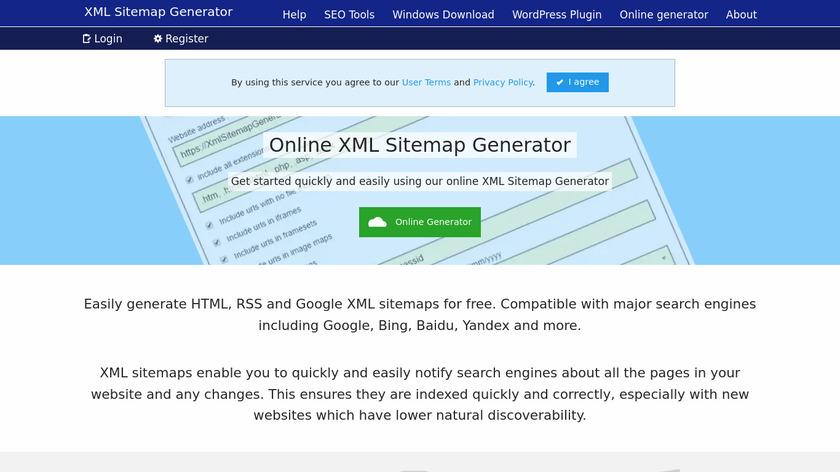 XmlSitemapGenerator.org Landing Page