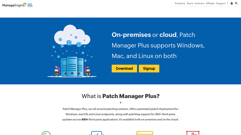 ManageEngine Patch Manager Plus Landing Page