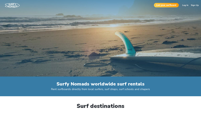 Surfy Nomads Landing Page
