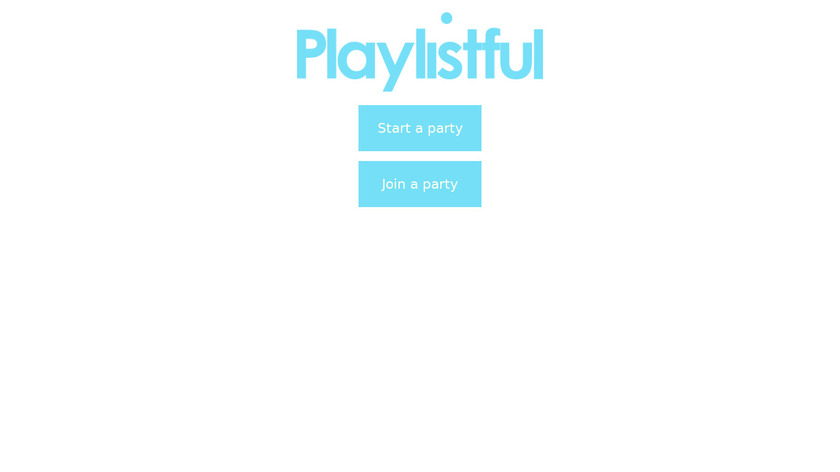 Playlistful Landing Page
