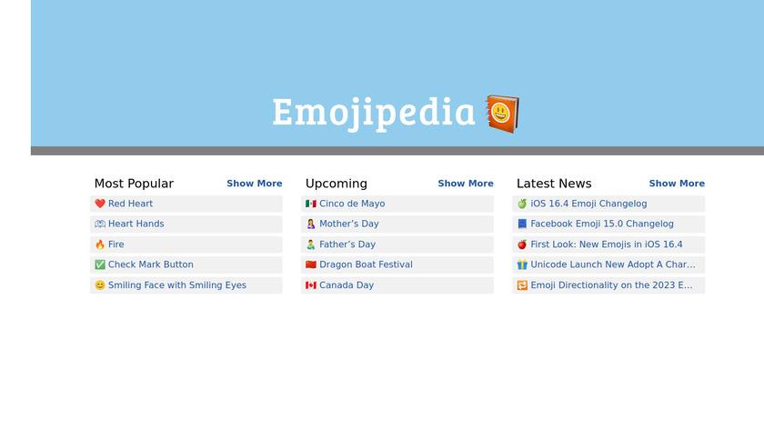 Emojipedia Landing Page