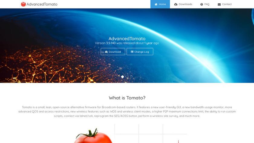 AdvancedTomato Landing Page