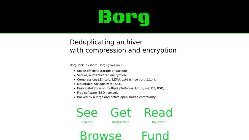 Borg Backup Landing Page