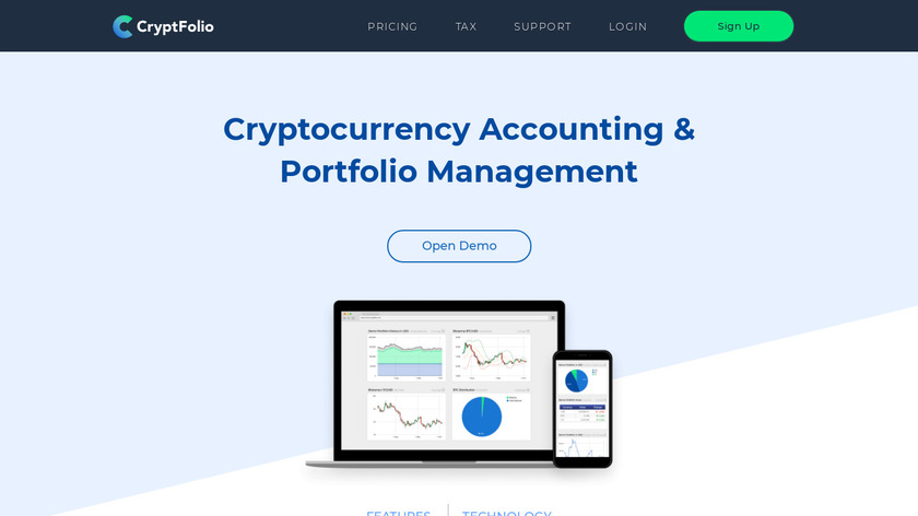 CryptFolio Landing Page