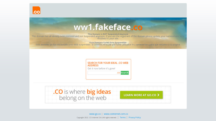 Fake faces Landing Page
