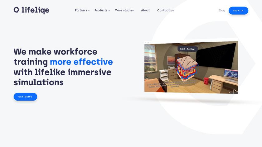 Lifeliqe Landing Page