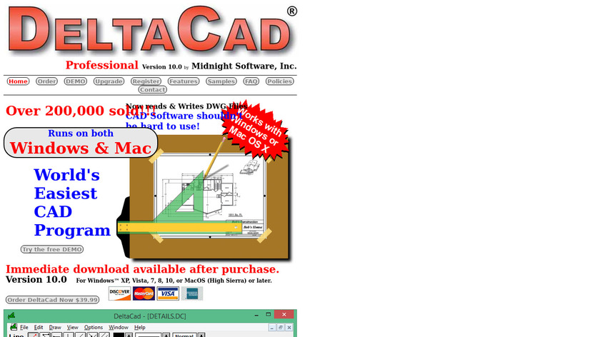 DeltaCAD Landing Page