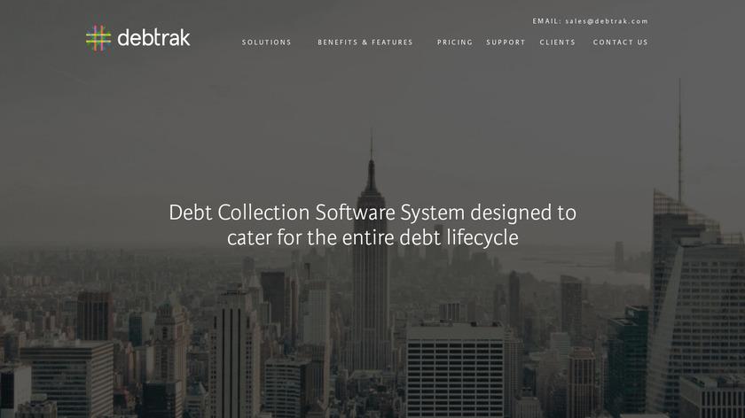 Debtrak Landing Page